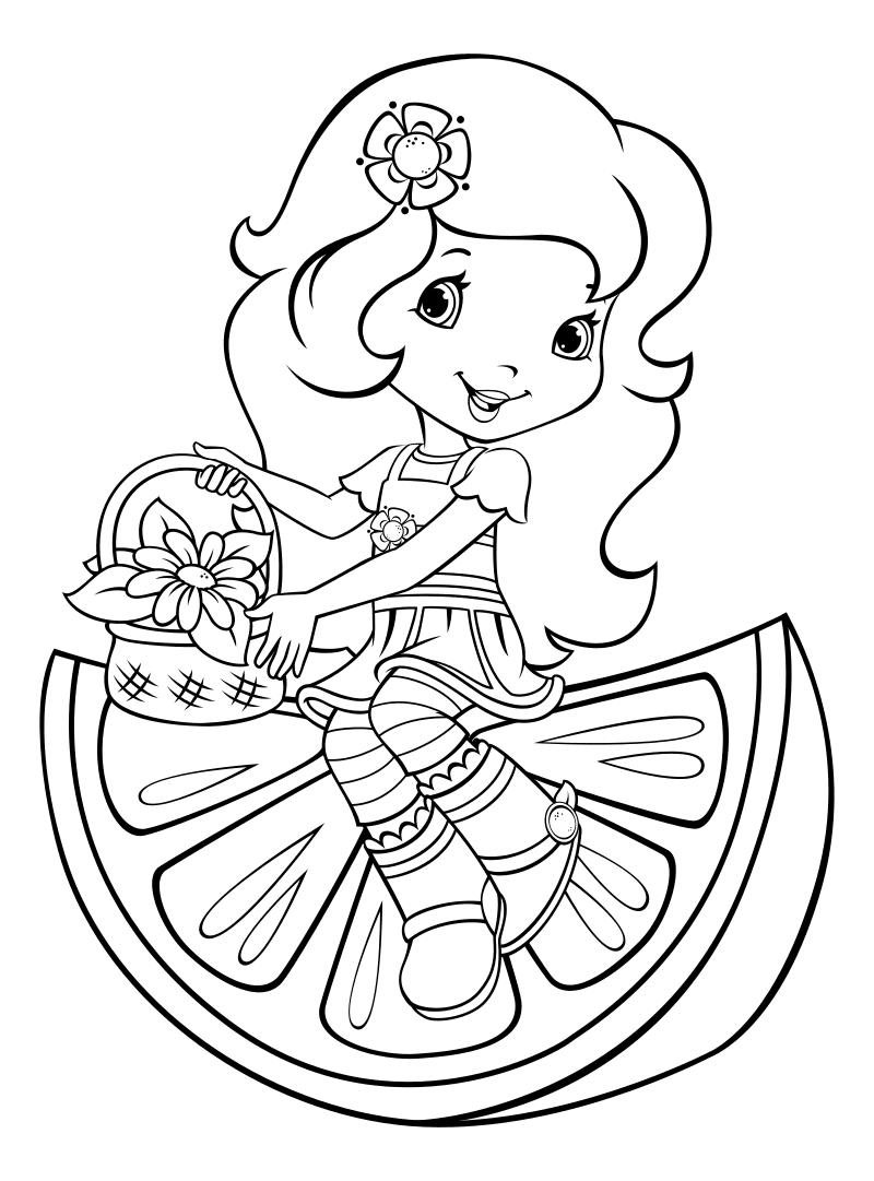 Раскраска принцесс для детей распечатать
