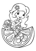 Раскраска - Шарлотта Земляничка: Ягодные приключения - Цветочек Апельсинка