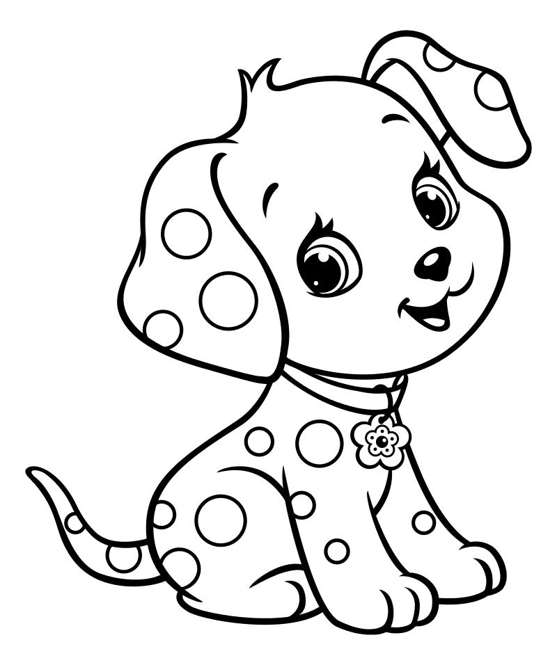 Картинки с собачками для раскрашивания распечатать