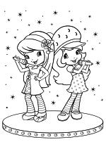 Раскраска - Шарлотта Земляничка: Ягодные приключения - Шерри и Земляничка поют на сцене