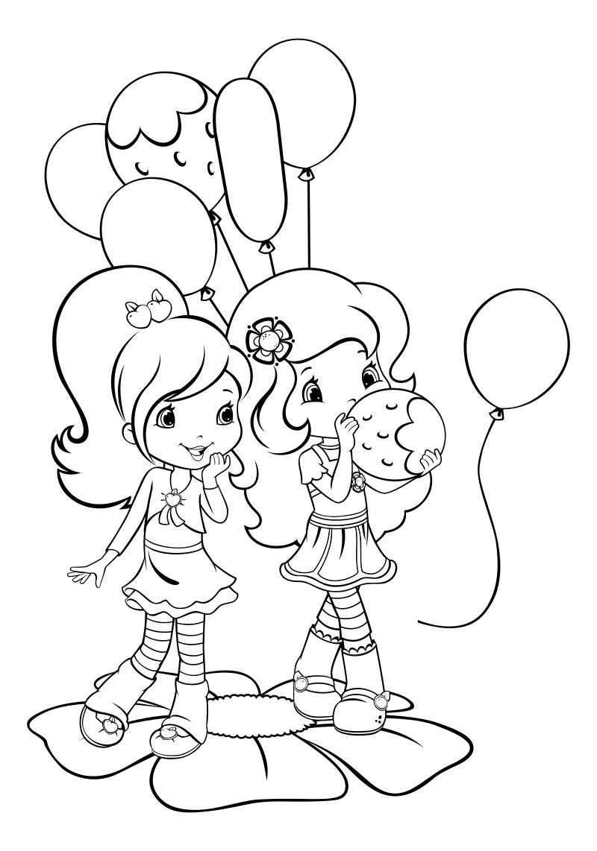Открытки, раскраска на день рождения девочке 5 лет