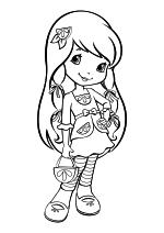 Раскраска - Шарлотта Земляничка: Ягодные приключения - Лимона Безе с сумочкой