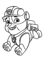 Раскраска - Щенячий патруль - Крепыш