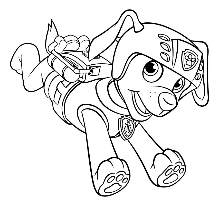 Картинки щенячий патруль все герои по отдельности для раскрашивания