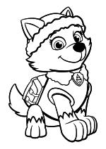 Раскраска - Щенячий патруль - Эверест - сибирская хаски