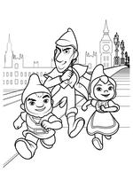 Раскраска - Шерлок Гномс - Гномео, Шерлок Гномс и Джульетта