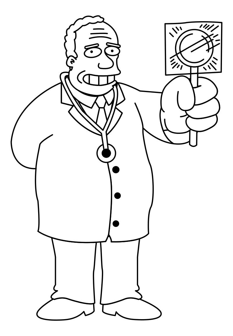 Раскраска - Симпсоны - Доктор Джулиус Хибберт