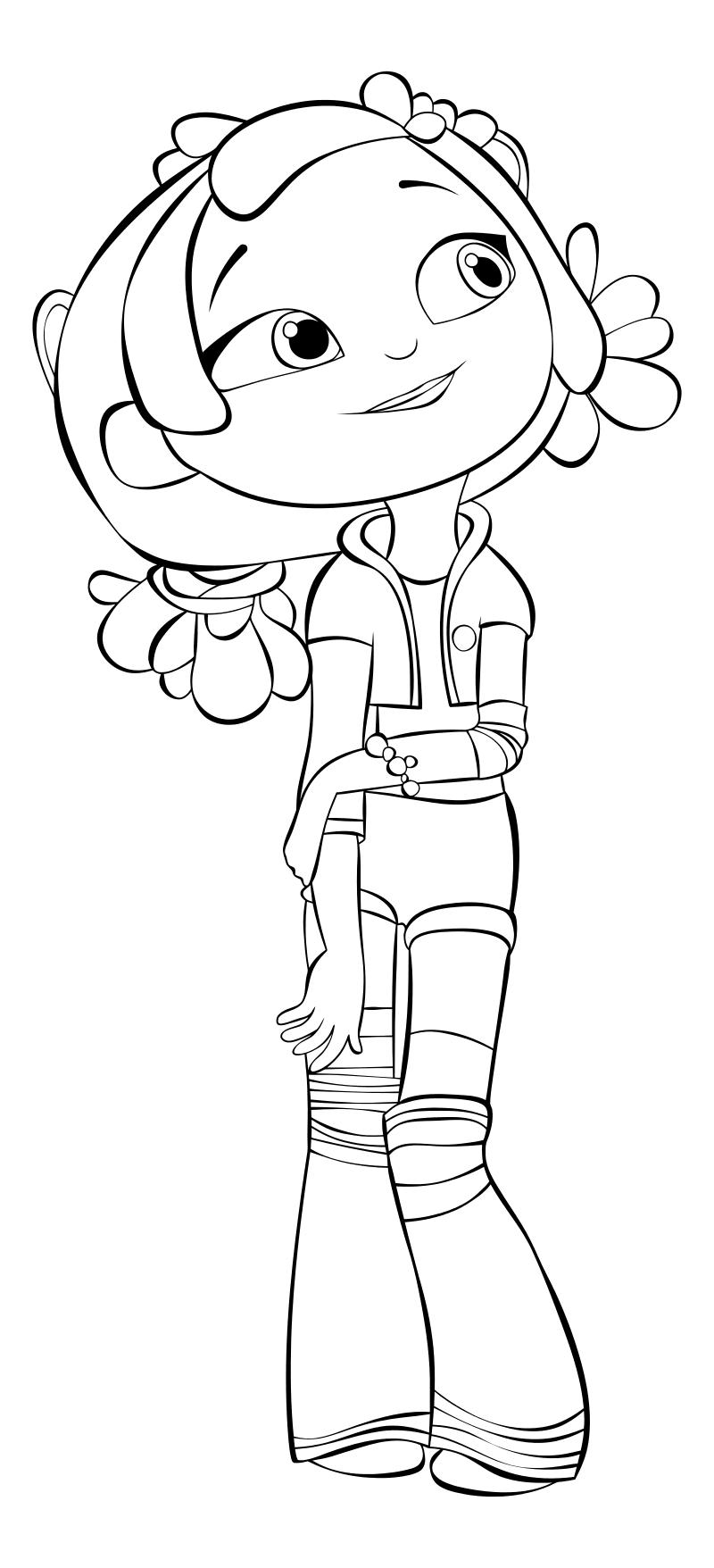 раскраска сказочный патруль алёнка Mirchild