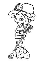 Раскраска - Сказочный Патруль - Снежка с посохом