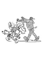 Раскраска - Скуби-Ду - Скуби-Ду с Шэгги спасаются от мумии