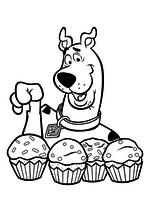 Раскраска - Скуби-Ду - Скуби-Ду выбирает кексы
