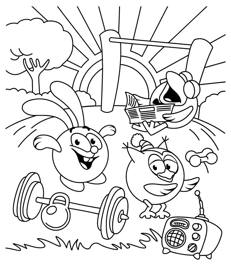 Раскраска здоровый образ жизни для детей школьного возраста