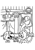 Раскраска - Смешарики - Кар-Карыч и Крош изучают мышей