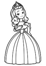 Раскраска Принцесса Эмбер с котёнком