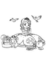 София пьёт чай с друзьями