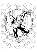 Раскраска - Совершенный Человек-паук - Совершенный Человек-паук