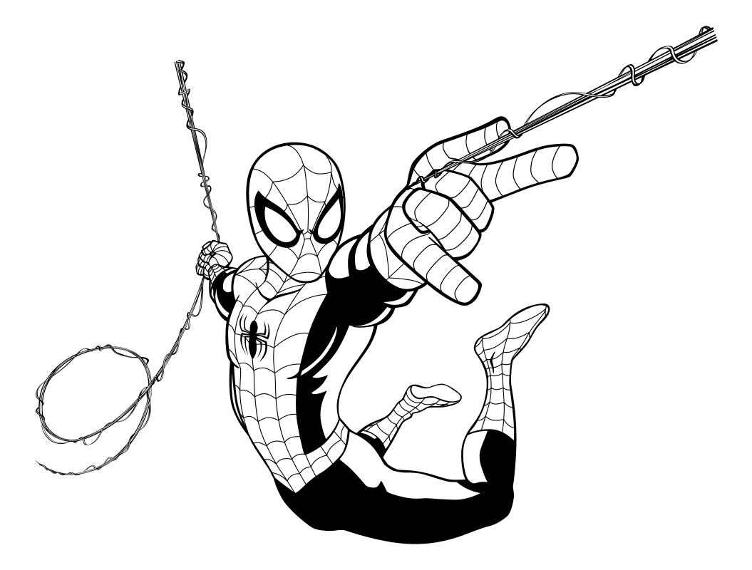 картинки человека паука для распечатки
