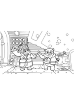 Раскраска - Спецагент Осо - Осо и профессор Буффо