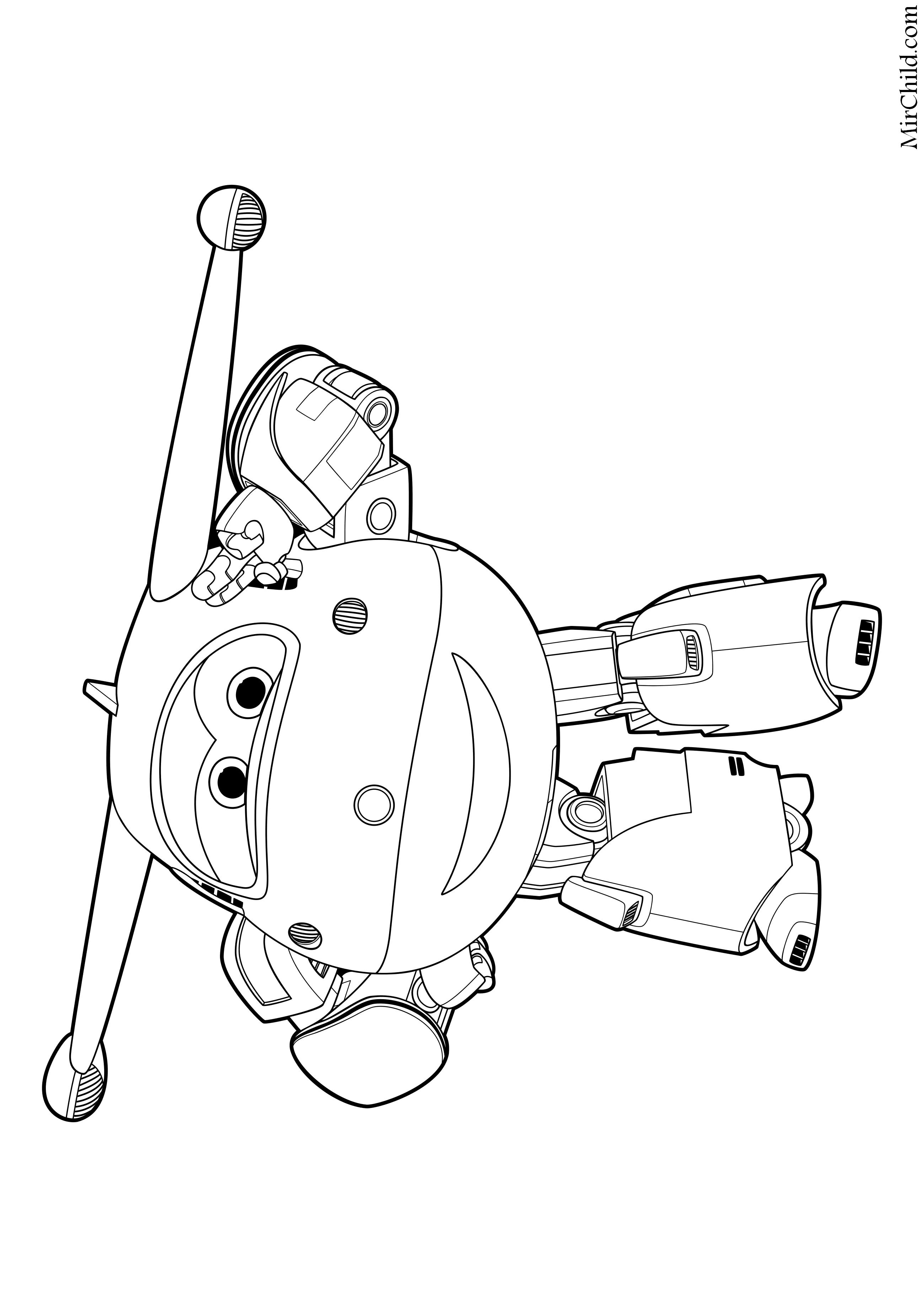 Раскраска - Супер Крылья: Джетт и его друзья - Робот Джетт ...