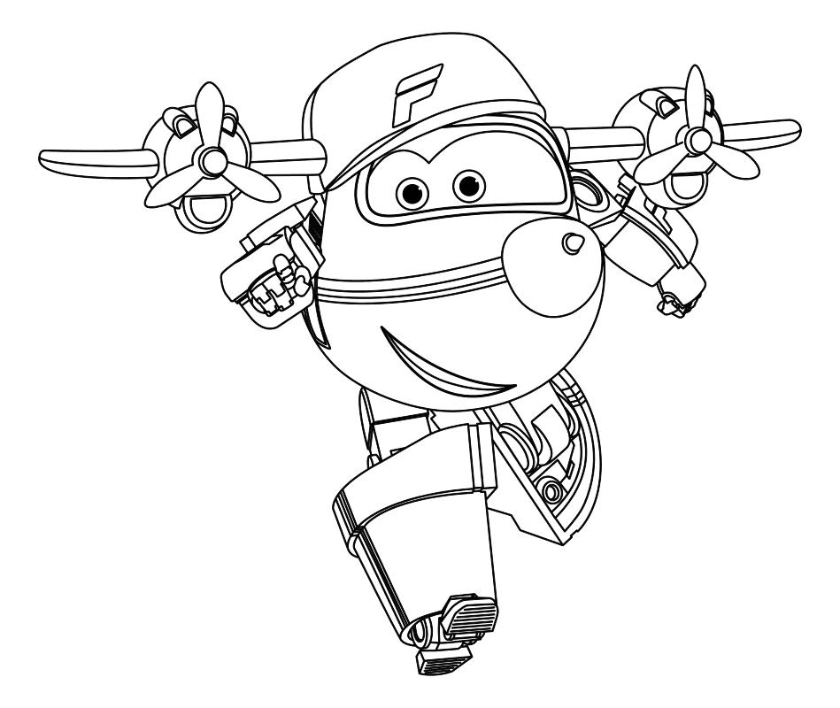 Раскраска - Супер Крылья: Джетт и его друзья - Робот Флип ...
