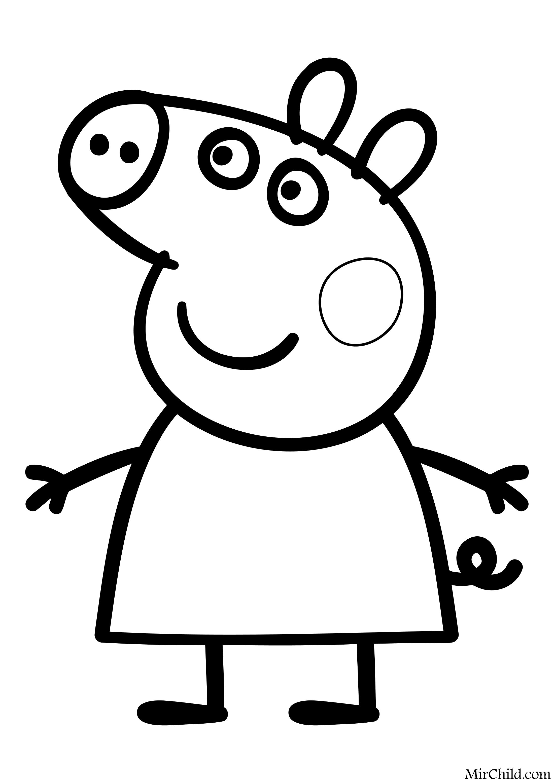 Раскраска - Свинка Пеппа - Свинка Пеппа | MirChild