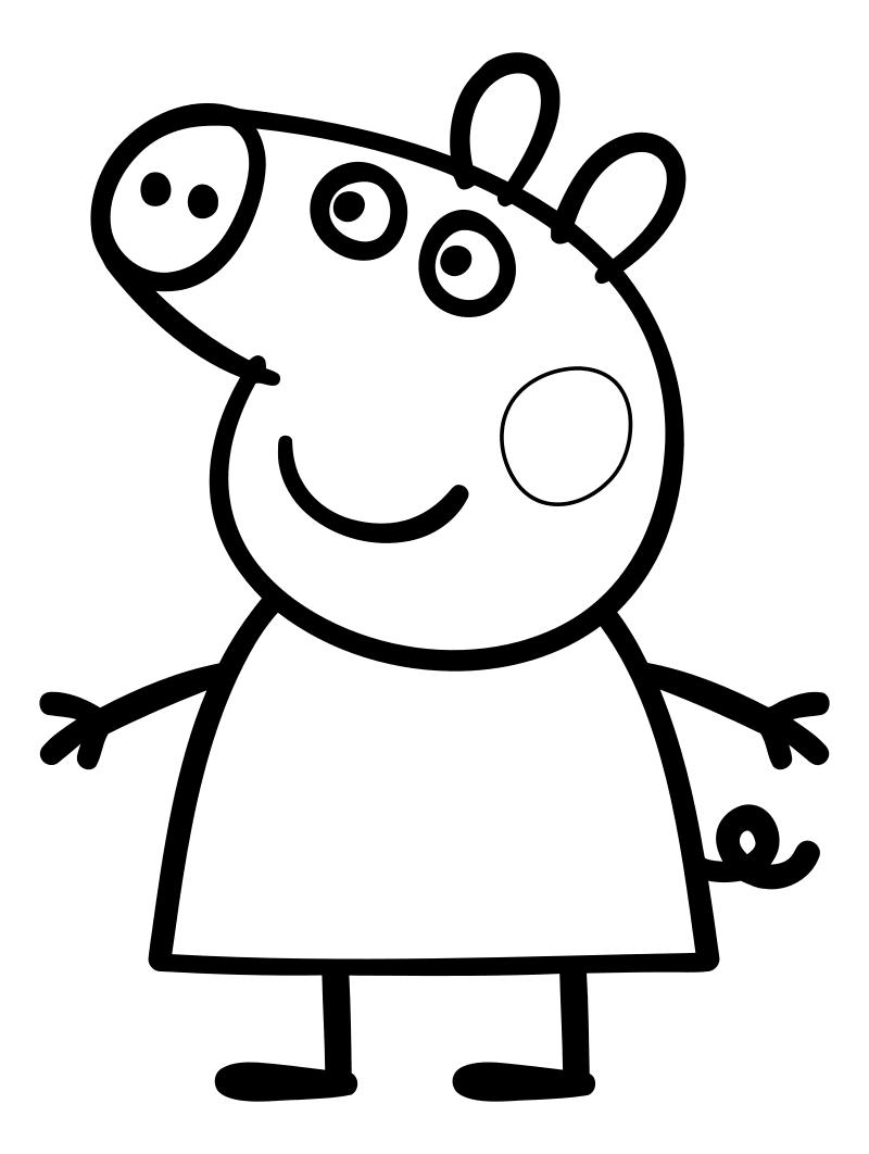 Картинки стихами, картинки свинки пеппы для раскрашивания