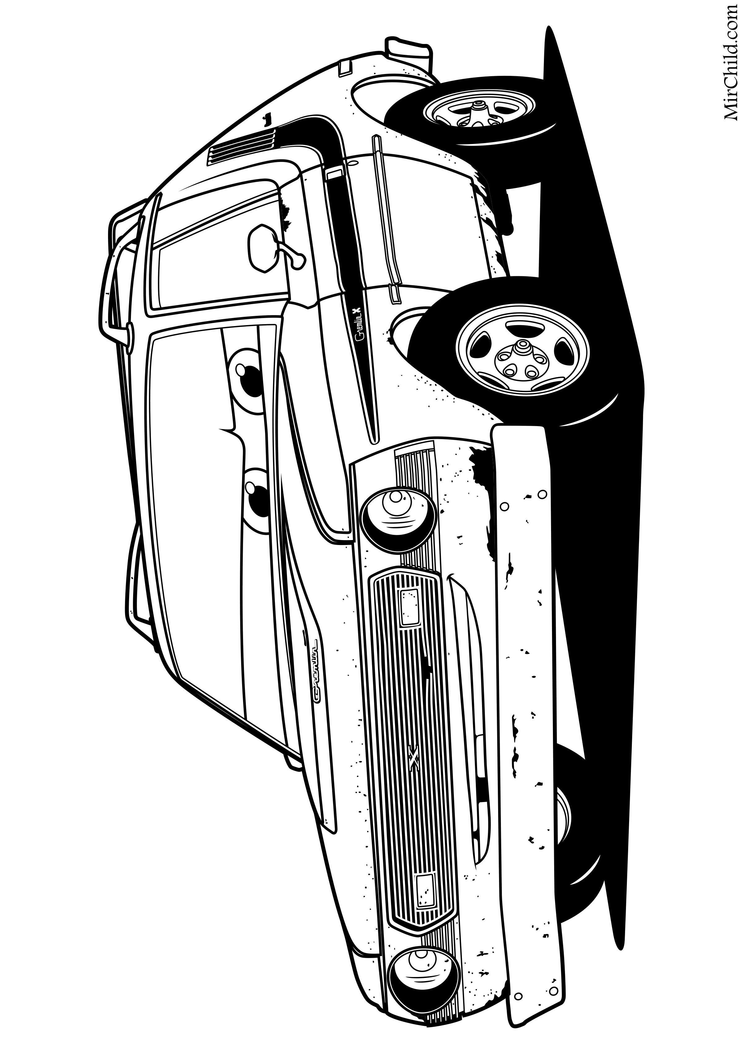 Раскраска - Тачки 2 - Грем | MirChild