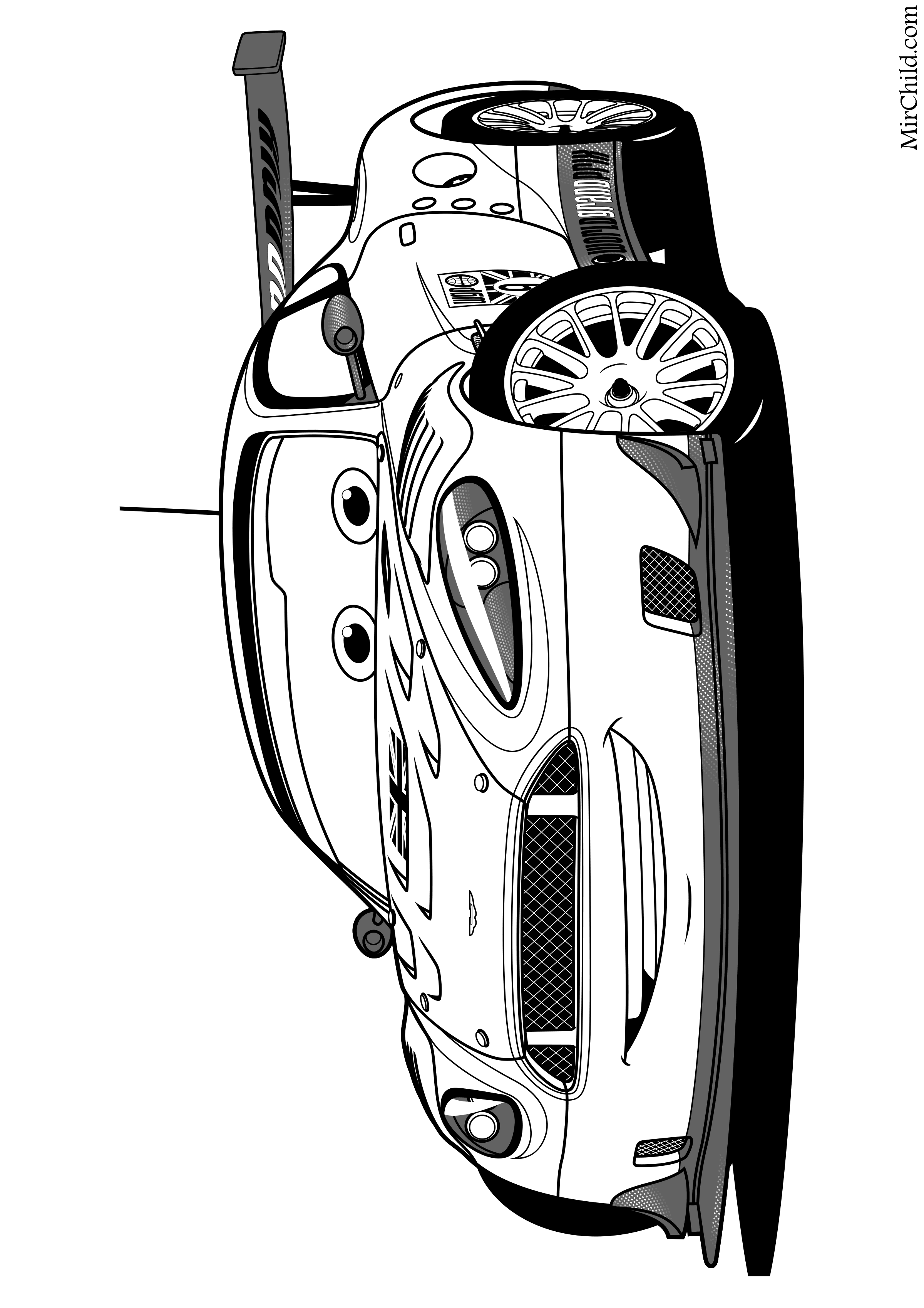 Раскраска - Тачки 2 - Найджел Газли | MirChild