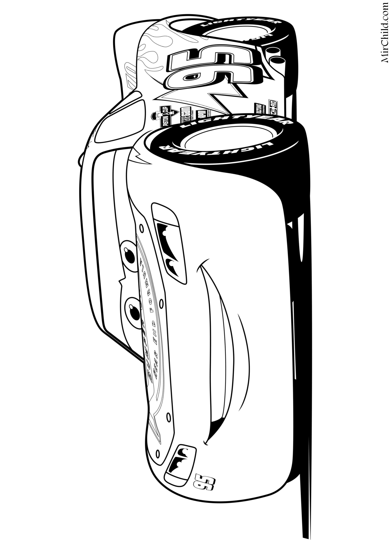 Раскраска - Тачки 3 - Молния Маккуин | MirChild