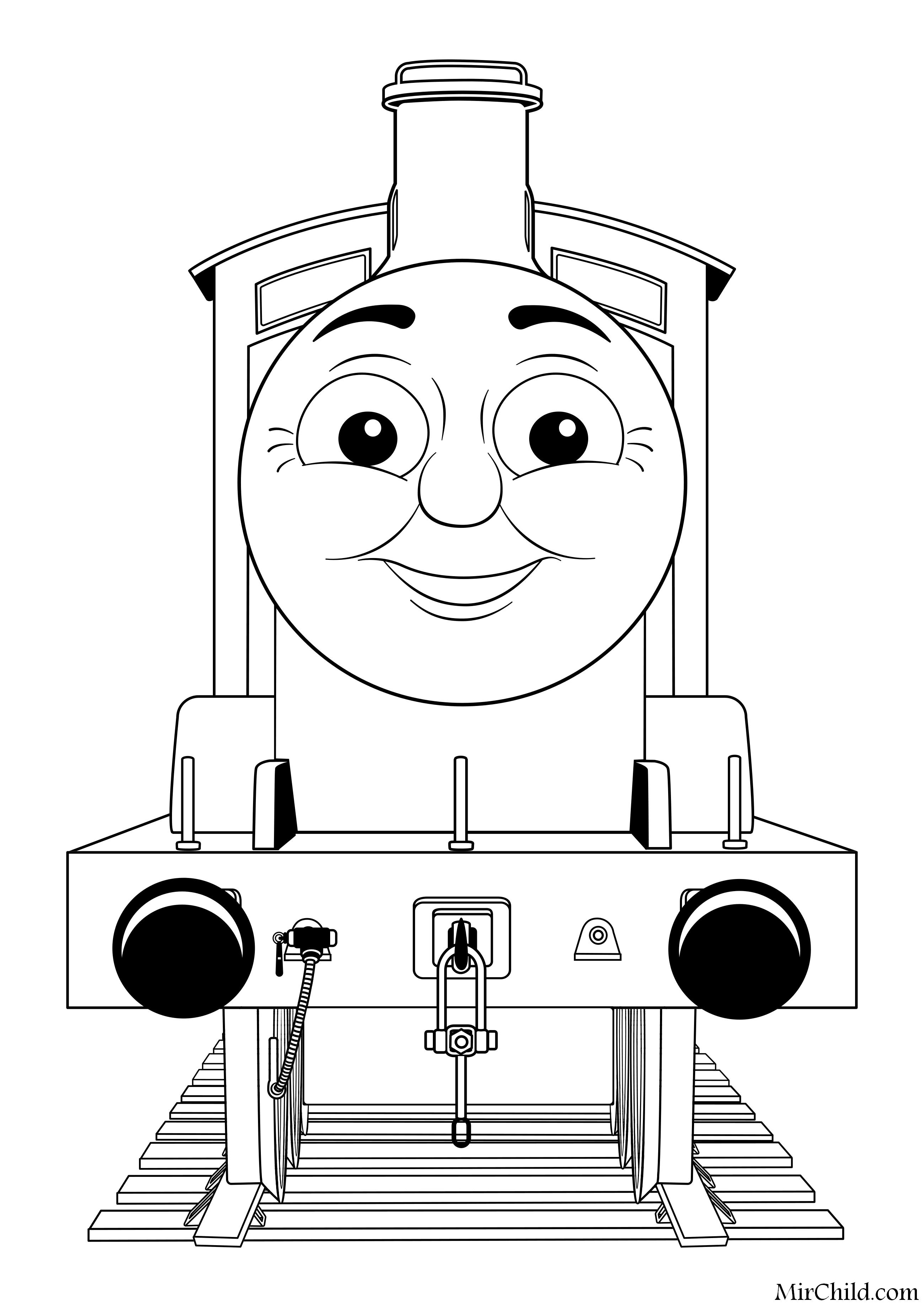Раскраска - Томас и его друзья - Джеймс | MirChild