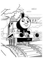 Раскраска - Томас и его друзья - Паровоз Томас