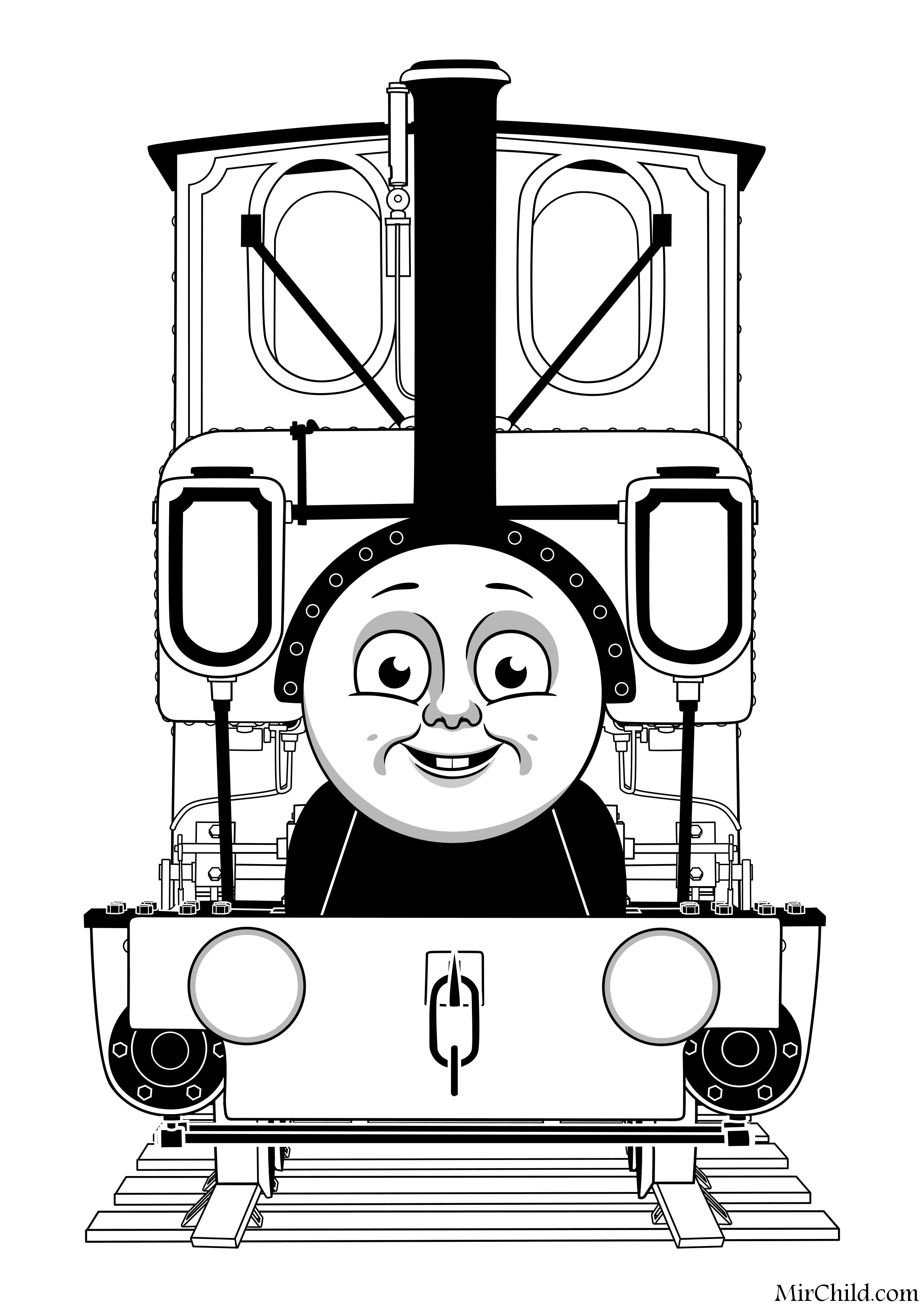 Раскраска - Томас и его друзья - Паровоз Люк | MirChild