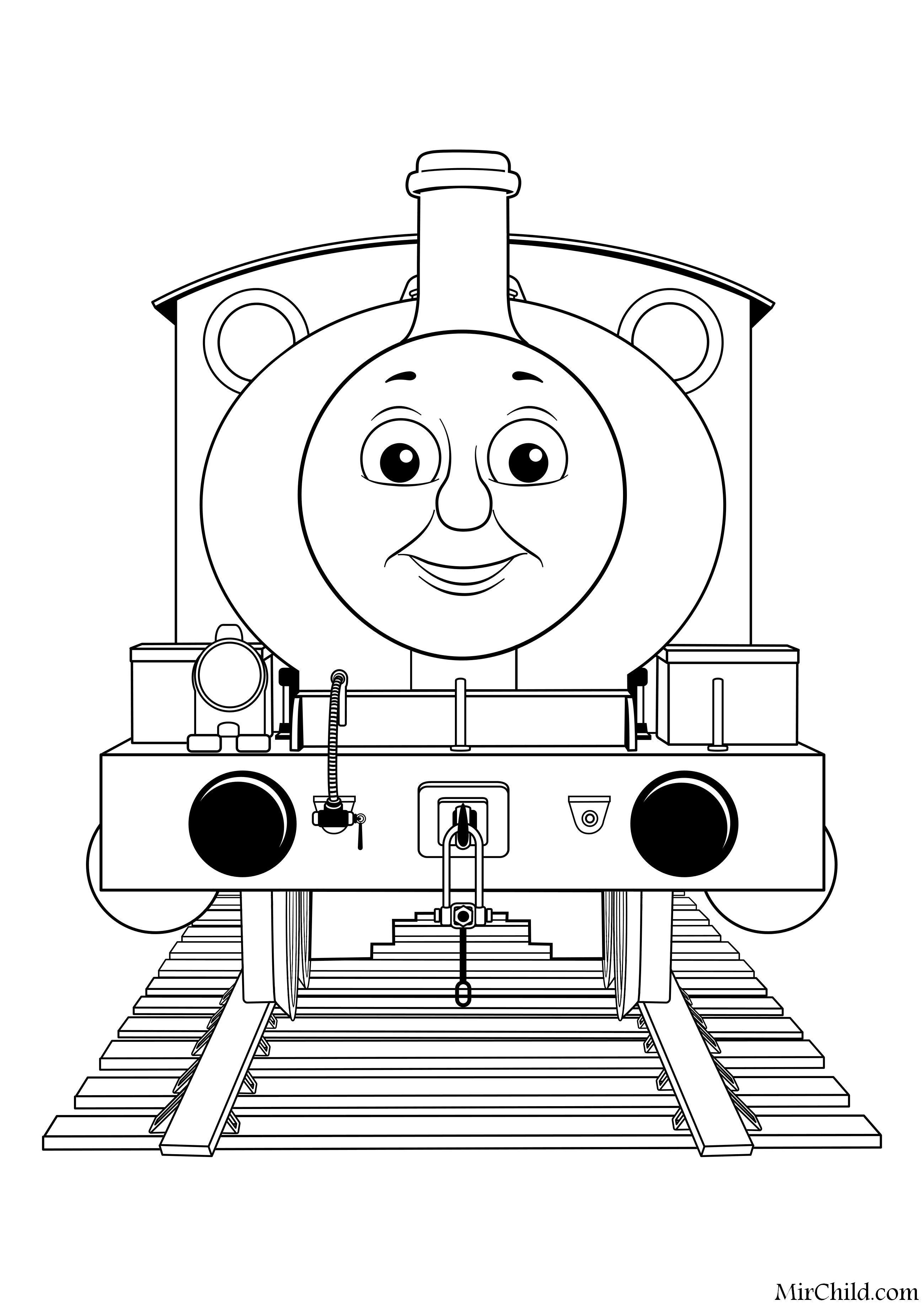 Раскраска - Томас и его друзья - Перси | MirChild