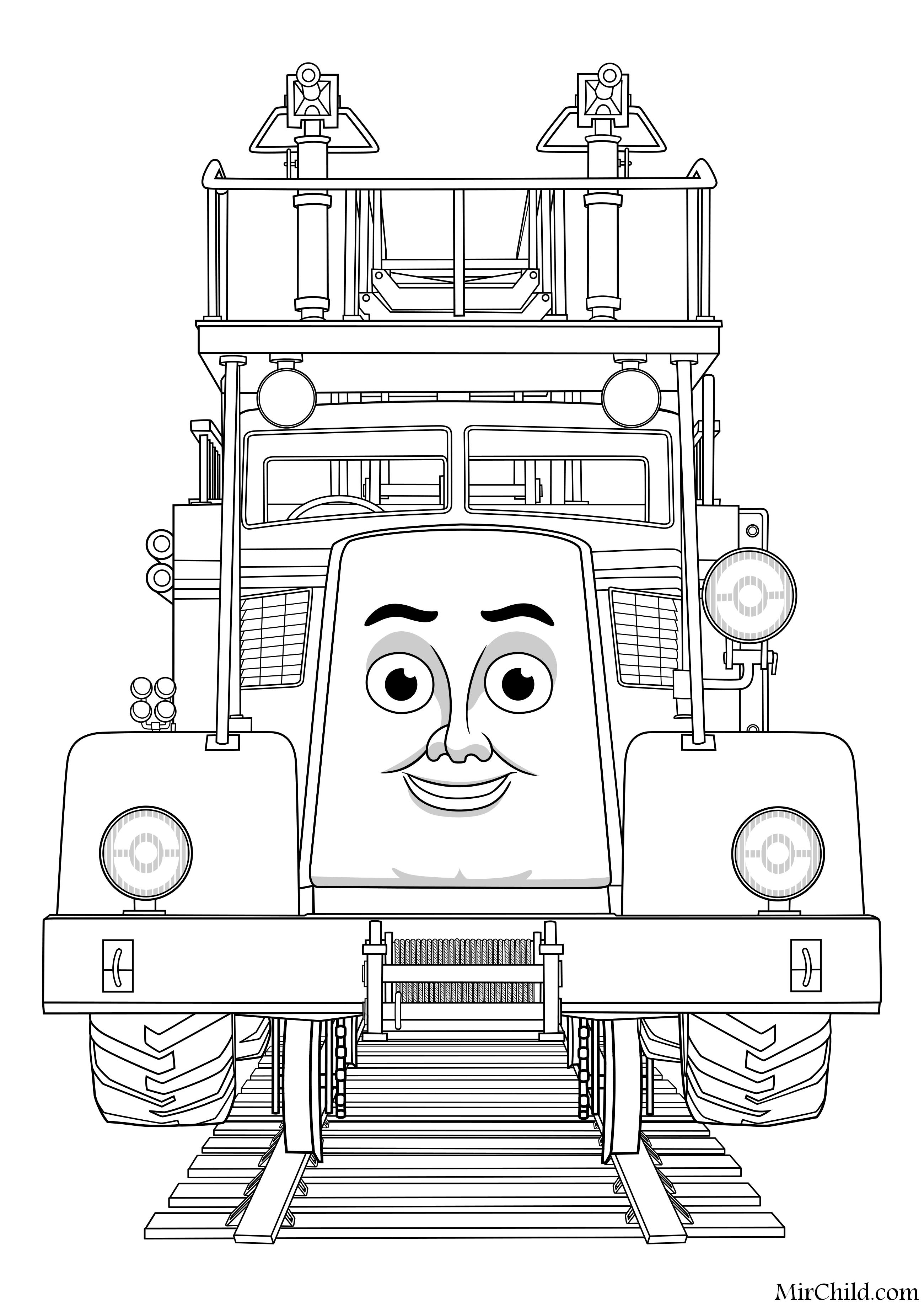 Раскраска - Томас и его друзья - Флинн | MirChild