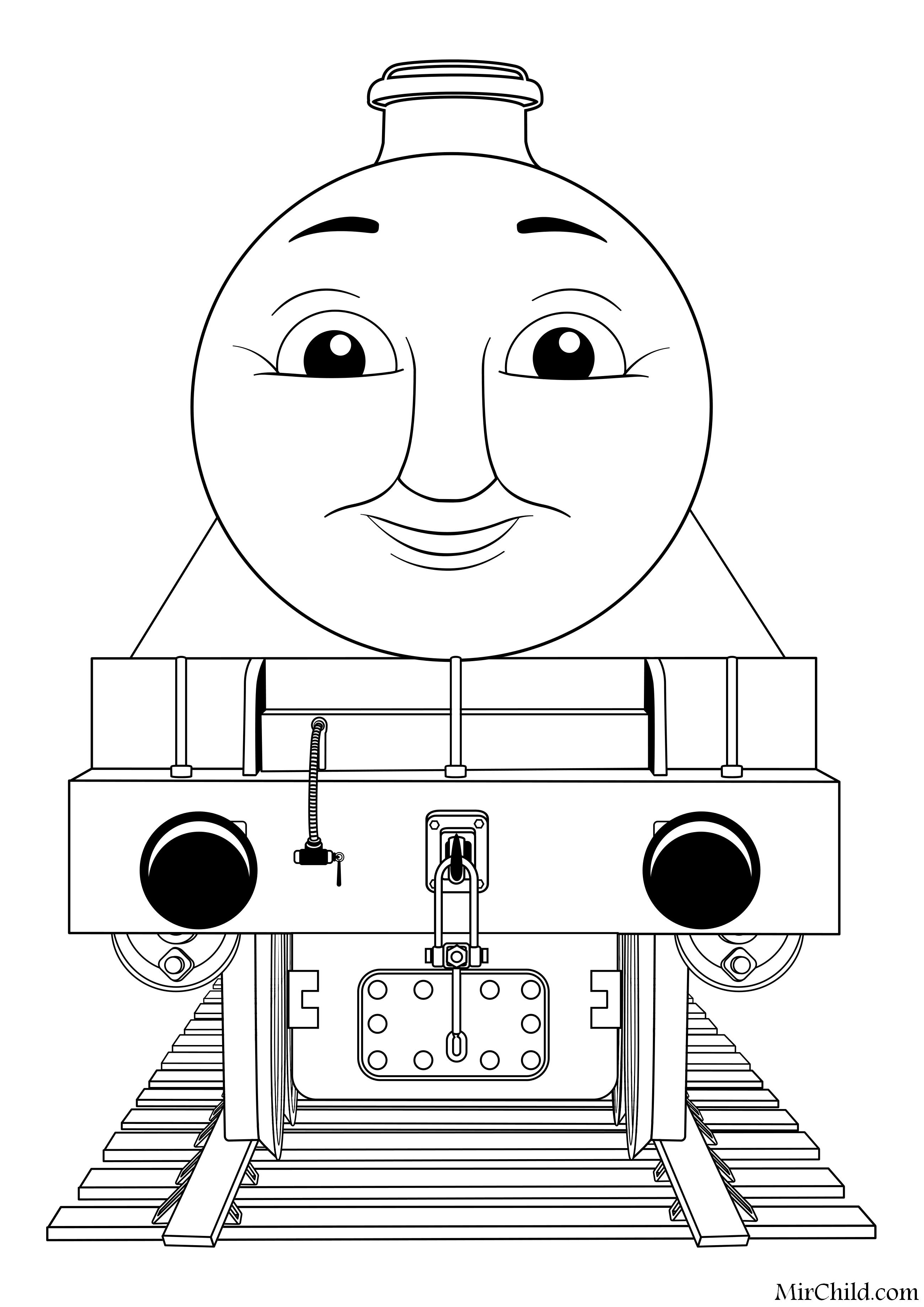 раскраска томас и его друзья паровоз генри Mirchild