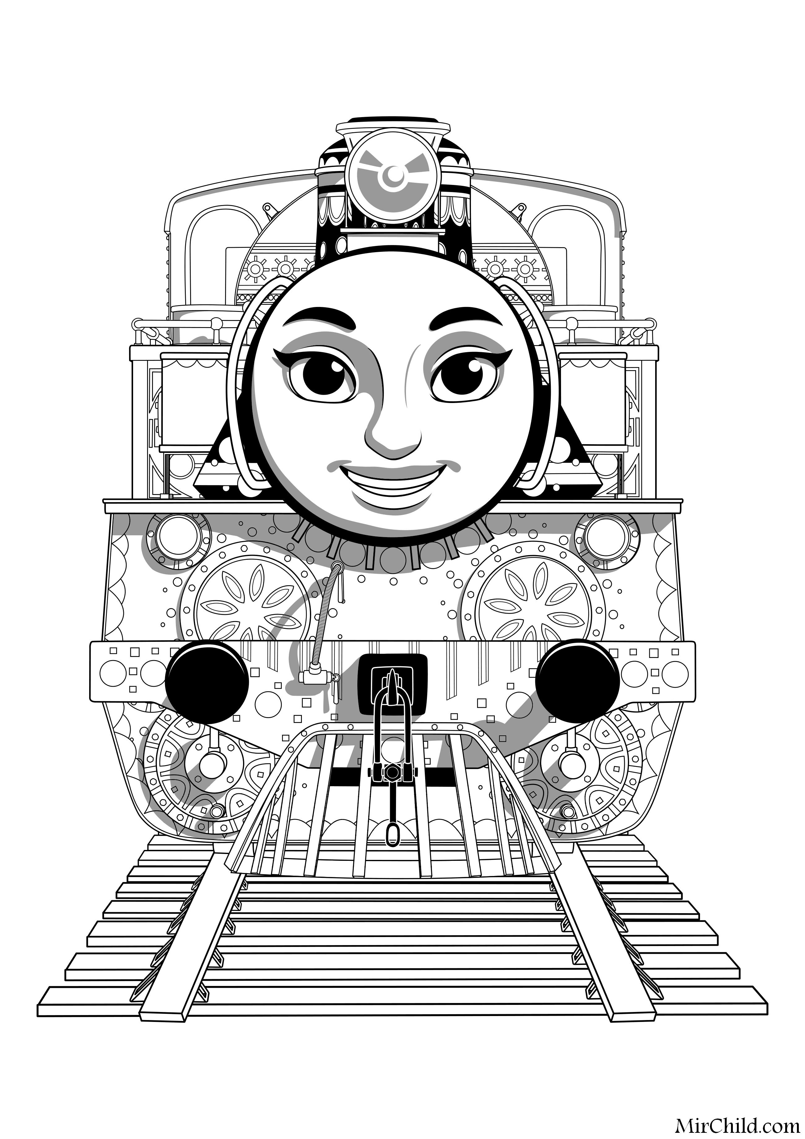 Раскраска - Томас и его друзья - Ашима | MirChild