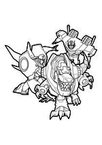 Раскраска - Трансформеры: Роботы под прикрытием - Бамблби, Гримлок и Оптимус Прайм