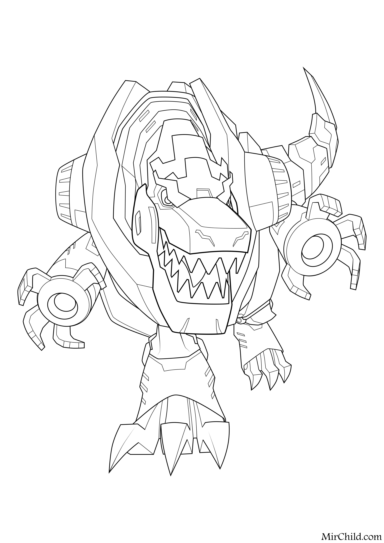 Раскраска - Трансформеры: Роботы под прикрытием - Гримлок ...
