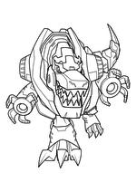 Раскраска - Трансформеры: Роботы под прикрытием - Гримлок