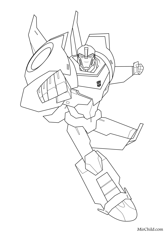 Раскраска - Трансформеры: Роботы под прикрытием - Бамблби ...