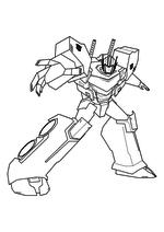 Раскраска - Трансформеры: Роботы под прикрытием - Оптимус Прайм