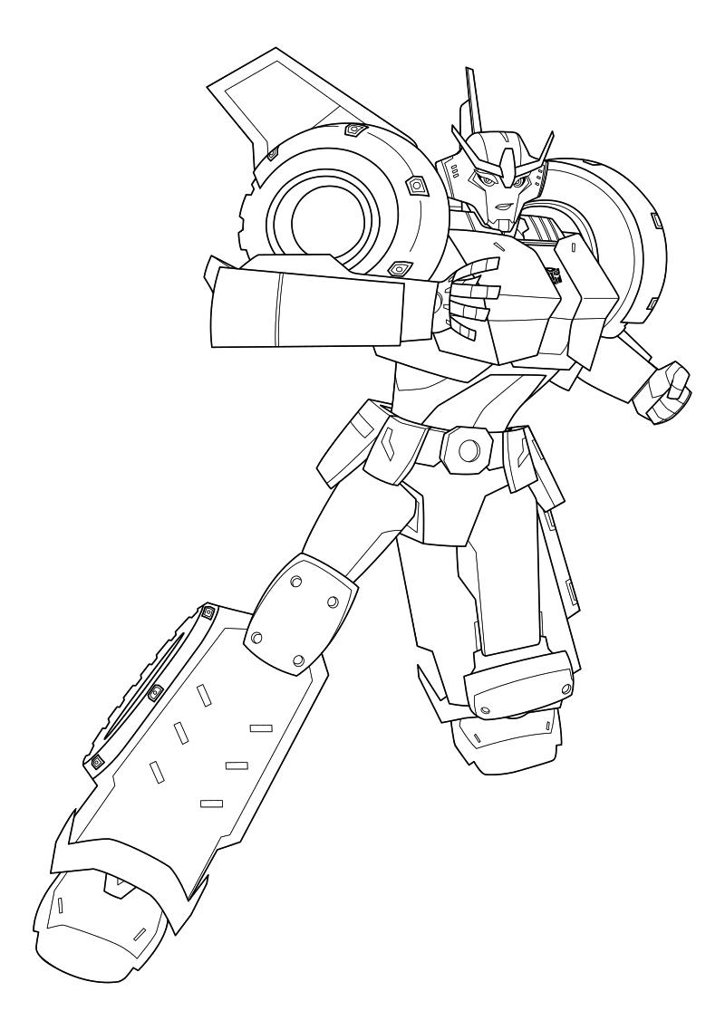 Раскраска - Трансформеры: Роботы под прикрытием ...
