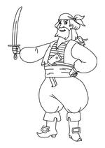 Раскраска - Три богатыря и морской царь - Князь Киевский - пират