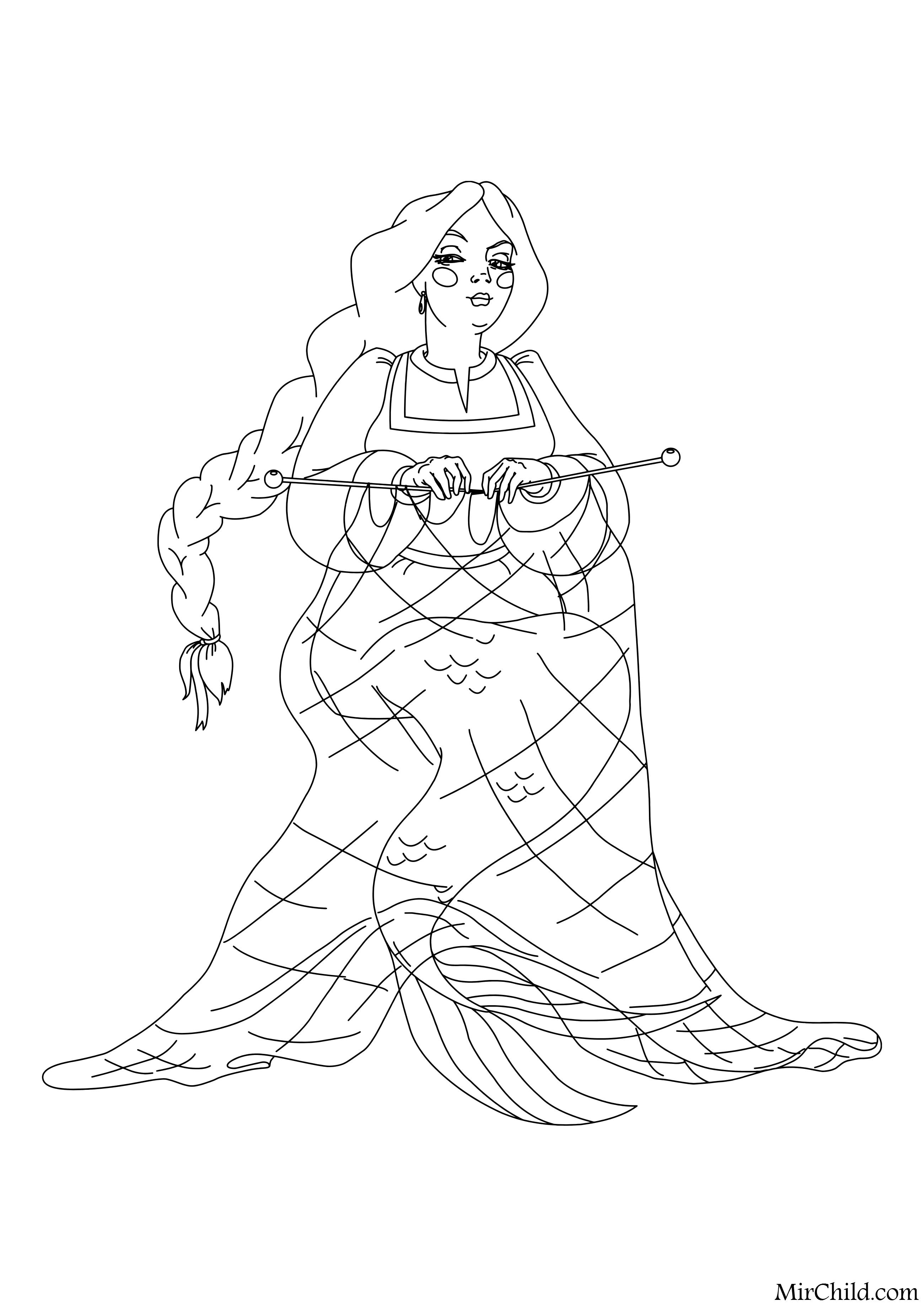 Раскраска - Три богатыря и морской царь - Настасья ...