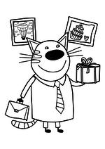 раскраски мультфильм три кота Mirchild
