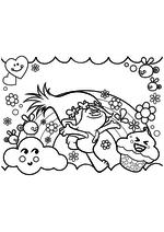 Раскраска - Тролли - Счастливая Розочка