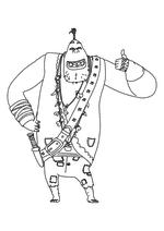 Раскраска - Урфин Джюс и его деревянные солдаты - Хитрый Людоед
