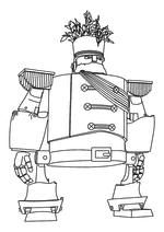 Раскраска - Урфин Джюс и его деревянные солдаты - Генерал дуболомов