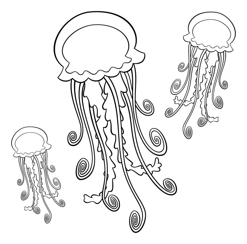 Раскраска - В поисках Немо - Медузы