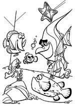 Раскраска - В поисках Немо - Немо в аквариуме